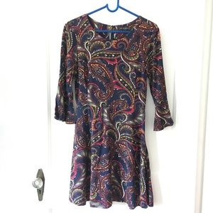 BR Factory Navy Paisley Dress